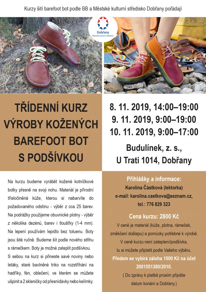 Třídenní kurz výroby kožených bot Dobřany