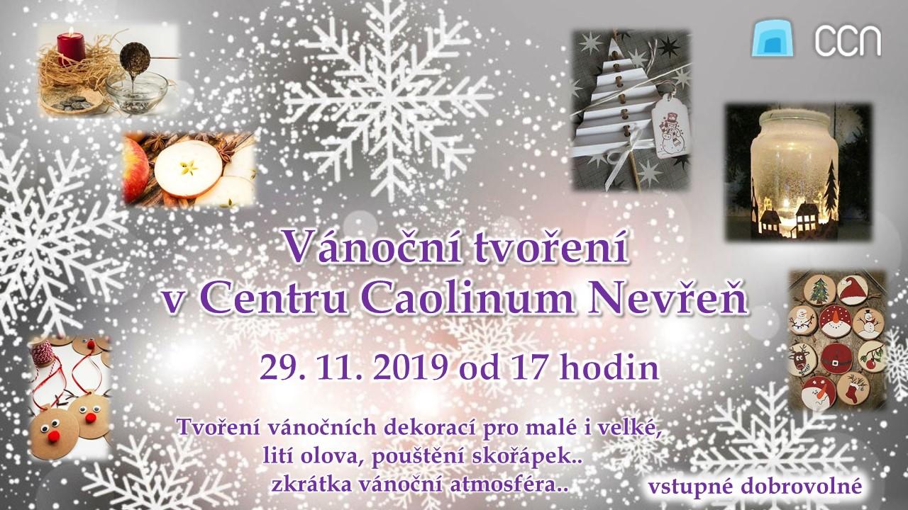 Vánoční tvoření v Centru Caolinum Nevřeň