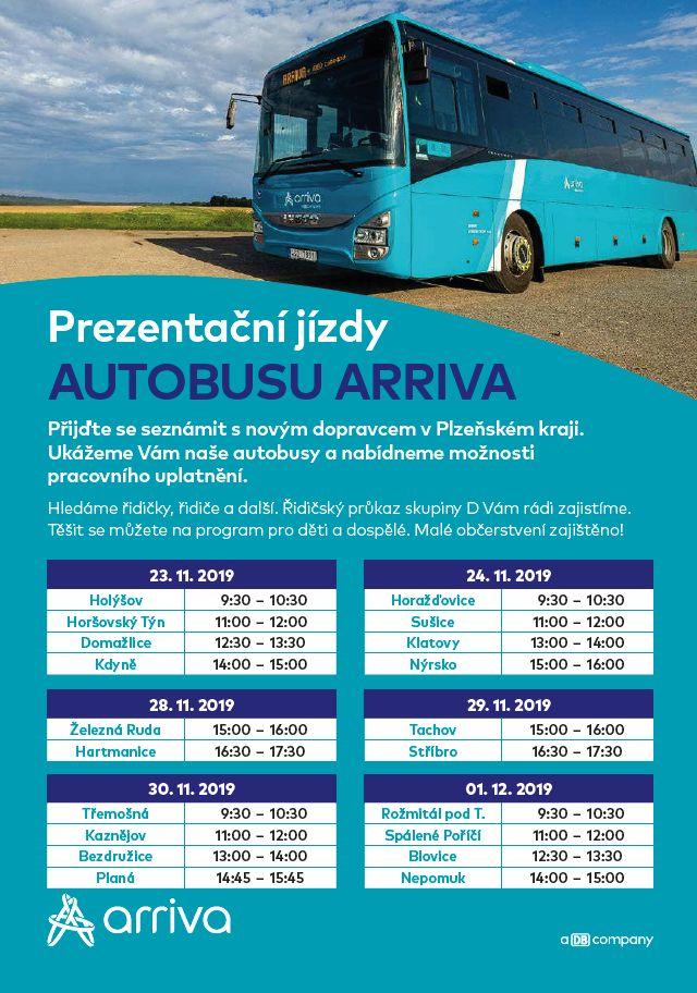 Den otevřených dveří na přestupním terminálu – prezentační jízdy autobusu ARRIVA