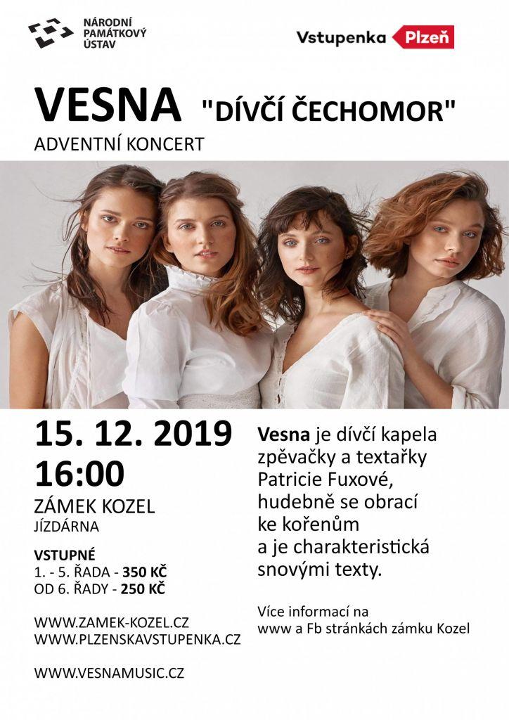 """ADVENTNÍ KONCERT VESNA – """"Dívčí Čechomor"""""""