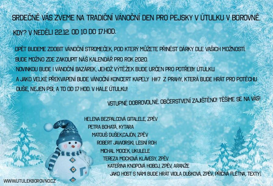 Vánoční den pro pejsky v Borovně